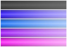 Abstract banner set (02). Abstract banner of five colors on a white background. easily cropping Stock Photos