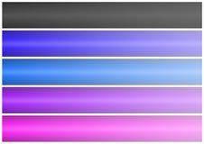 Abstract banner set (02) Stock Photos