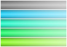 Abstract banner set (03). Abstract banner of five colors on a white background. easily cropping vector illustration