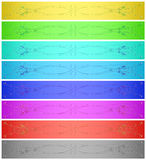 Abstract banner set Royalty Free Stock Photography