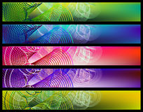 Abstract banner set. Colorful abstract banner set, for text Royalty Free Stock Images