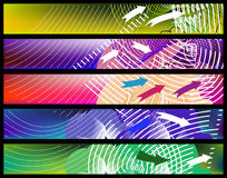 Abstract banner set Royalty Free Stock Images