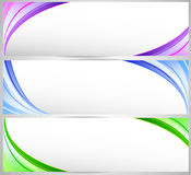 Abstract banner set Stock Images