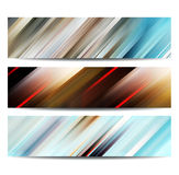 Abstract banner set royalty free illustration