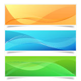 Abstract Banner Set Shadow Effect Royalty Free Stock Photo