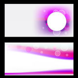 Abstract banner set Vector royalty free illustration