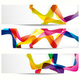 Abstract banner with square forms. Royalty Free Stock Image