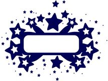 Abstract banner with stars isolated Royalty Free Stock Photo