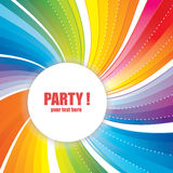 Abstract Banner with Strips for Party. Royalty Free Stock Photos