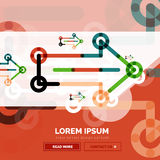 Abstract banner template with arrows, linear design style stock illustration