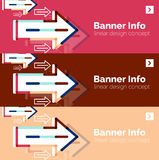 Abstract banner template with arrows, linear Stock Photos