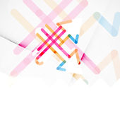 Abstract banner template with arrows, linear Stock Image