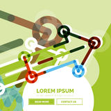Abstract banner template with arrows, linear royalty free illustration