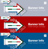 Abstract banner template with arrows, linear stock illustration