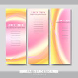 Abstract banner template set design Royalty Free Stock Photo
