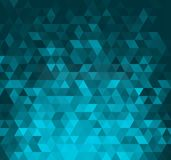 Abstract banner with triangle shapes Stock Image