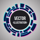 Abstract banner with violet blue technology circles. Stock Images