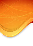 Abstract banner with waves in orange color Royalty Free Stock Images