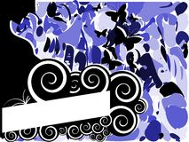 Abstract banner with woman and butterflies Royalty Free Stock Photo
