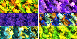 Abstract Banners. 6 Colorful Abstract Shape Banner Backgrounds Stock Images