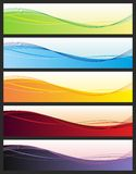 Abstract banners. Set of abstract headers. Vector Royalty Free Stock Images