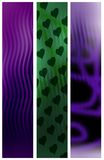 Abstract banners. Set of three abstract banners Royalty Free Stock Photo