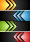 Abstract banners with arrows Stock Photos