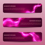 Abstract banners with bright wavy lines annual report design templates future Poster template design. Abstract banners with bright wavy lines annual report vector illustration