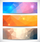 Abstract banners collection. Geometric banneres set Stock Photos