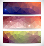 Abstract banners collection. Geometric banneres set Royalty Free Stock Photos