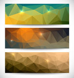 Abstract banners collection. Geometric banneres set Royalty Free Stock Photo