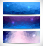 Abstract banners collection. Geometric banneres set Royalty Free Stock Photography