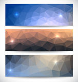 Abstract banners collection. Geometric banneres set Stock Photography