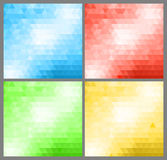 Abstract banners collection. Colored backgrounds of triangles Royalty Free Stock Photography