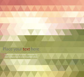 Abstract banners collection. Colored backgrounds of triangles Royalty Free Stock Image