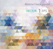 Abstract banners collection. Colored backgrounds of triangles Stock Image