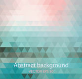 Abstract banners collection. Colored backgrounds of triangles Royalty Free Stock Images