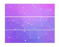 Abstract banners collection. Abstract colorful banners collection - eps10, vector illustration. Molecule geometric structure Stock Photo