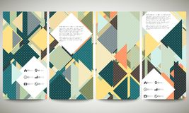 Abstract banners collection, flyer layouts. Abstract banners collection, abstract flyer layouts, vector illustration templates. Colored backgrounds with place Stock Images