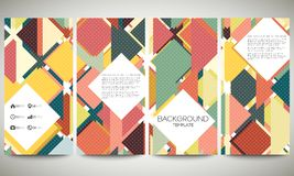 Abstract banners collection, flyer layouts. Abstract banners collection, abstract flyer layouts, vector illustration templates. Colored backgrounds with place Royalty Free Stock Image