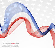 Abstract banners collection. Patriotic wave background Abstract image of the American flag Royalty Free Stock Image