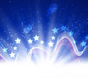 Abstract banners collection. Patriotic wave background Abstract image of the American flag Stock Image