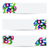 Abstract banners. With colorful numbers Royalty Free Stock Photography