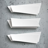 3 Abstract Banners Concrete Royalty Free Stock Photo