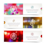 Abstract banners with defocused background Royalty Free Stock Image