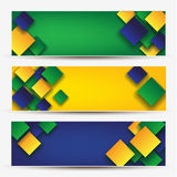 Abstract banners. With four brazil 2014 Royalty Free Stock Image