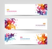Abstract Banners - Geometric Shapes Royalty Free Stock Photography