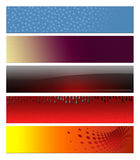 Abstract banners, headers. Blank, abstract banners, headers five projects