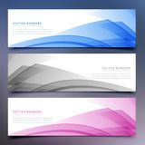 Abstract banners and headers set. Vector Stock Images