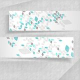 Abstract Banners With Place For Your Text. 3D Abstract Banners With Place For Your Text. Vector Illustration. Eps 10 Royalty Free Stock Photos